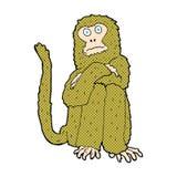 κωμικός πίθηκος κινούμενων σχεδίων Στοκ φωτογραφία με δικαίωμα ελεύθερης χρήσης