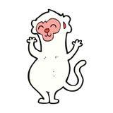κωμικός πίθηκος κινούμενων σχεδίων Στοκ Εικόνες