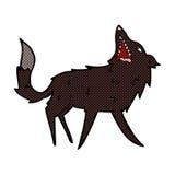 κωμικός σπάζοντας απότομα λύκος κινούμενων σχεδίων Στοκ Φωτογραφίες