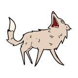 κωμικός σπάζοντας απότομα λύκος κινούμενων σχεδίων Στοκ Φωτογραφία