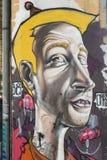Κωμικός στον τοίχο Στοκ Εικόνα