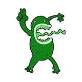 κωμικός τρελλός βάτραχος κινούμενων σχεδίων Στοκ φωτογραφία με δικαίωμα ελεύθερης χρήσης