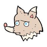 κωμικός δυστυχισμένος λύκος κινούμενων σχεδίων Στοκ φωτογραφίες με δικαίωμα ελεύθερης χρήσης