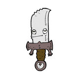 κωμικός χαρακτήρας κινουμένων σχεδίων μαχαιριών Στοκ φωτογραφία με δικαίωμα ελεύθερης χρήσης