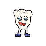κωμικός χαρακτήρας δοντιών κινούμενων σχεδίων αστείος Στοκ εικόνα με δικαίωμα ελεύθερης χρήσης