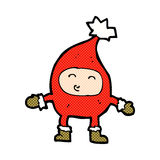 κωμικός χαρακτήρας Χριστουγέννων κινούμενων σχεδίων αστείος Στοκ Εικόνες