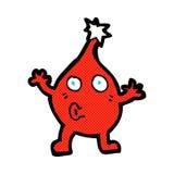 κωμικός χαρακτήρας Χριστουγέννων κινούμενων σχεδίων αστείος Στοκ Εικόνα