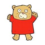 κωμικός χαριτωμένος teddy κινούμενων σχεδίων αντέχει Στοκ Εικόνες