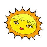 κωμικός όμορφος ήλιος κινούμενων σχεδίων Στοκ φωτογραφία με δικαίωμα ελεύθερης χρήσης