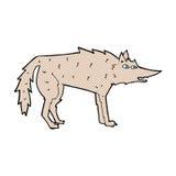 κωμικός λύκος κινούμενων σχεδίων Στοκ φωτογραφίες με δικαίωμα ελεύθερης χρήσης