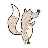 κωμικός λύκος κυματισμού κινούμενων σχεδίων Στοκ Εικόνα