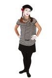 κωμικός mime Στοκ Φωτογραφίες