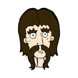 κωμικό άτομο κινούμενων σχεδίων με το μακροχρόνιο mustache Στοκ Φωτογραφία