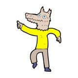 κωμικό άτομο λύκων κινούμενων σχεδίων Στοκ φωτογραφίες με δικαίωμα ελεύθερης χρήσης