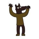 κωμικό άτομο λύκων κινούμενων σχεδίων Στοκ εικόνες με δικαίωμα ελεύθερης χρήσης