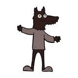 κωμικό άτομο λύκων κινούμενων σχεδίων Στοκ εικόνα με δικαίωμα ελεύθερης χρήσης