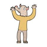 κωμικό άτομο werewolf κινούμενων σχεδίων ευτυχές Στοκ φωτογραφίες με δικαίωμα ελεύθερης χρήσης