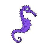 κωμικό άλογο θάλασσας κινούμενων σχεδίων Στοκ εικόνα με δικαίωμα ελεύθερης χρήσης