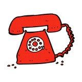 κωμικό αναδρομικό τηλέφωνο κινούμενων σχεδίων Στοκ εικόνα με δικαίωμα ελεύθερης χρήσης
