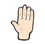 κωμικό ανοικτό χέρι κινούμενων σχεδίων Στοκ εικόνα με δικαίωμα ελεύθερης χρήσης