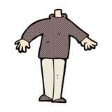 κωμικό αρσενικό σώμα κινούμενων σχεδίων (τα κωμικά κινούμενα σχέδια μιγμάτων και αντιστοιχιών ή προσθέτουν δικούς Στοκ εικόνα με δικαίωμα ελεύθερης χρήσης