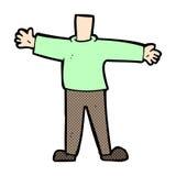 κωμικό αρσενικό σώμα κινούμενων σχεδίων (τα κωμικά κινούμενα σχέδια μιγμάτων και αντιστοιχιών ή προσθέτουν δικούς Στοκ Φωτογραφίες