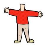 κωμικό αρσενικό σώμα κινούμενων σχεδίων (τα κωμικά κινούμενα σχέδια μιγμάτων και αντιστοιχιών ή προσθέτουν δικούς Στοκ φωτογραφίες με δικαίωμα ελεύθερης χρήσης