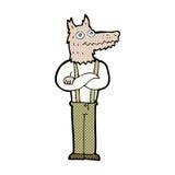 κωμικό αστείο werewolf κινούμενων σχεδίων Στοκ Εικόνες