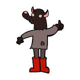 κωμικό αστείο werewolf κινούμενων σχεδίων Στοκ Φωτογραφία