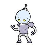 κωμικό αλλοδαπό ρομπότ κινούμενων σχεδίων Στοκ Εικόνες