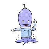 κωμικό αλλοδαπό spaceman κινούμενων σχεδίων Στοκ εικόνα με δικαίωμα ελεύθερης χρήσης