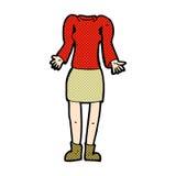 κωμικό θηλυκό σώμα κινούμενων σχεδίων με την απαξίωση των ώμων (μίγμα και matc Στοκ Εικόνες
