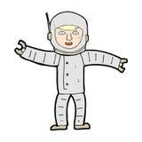 κωμικό διαστημικό άτομο κινούμενων σχεδίων Στοκ εικόνες με δικαίωμα ελεύθερης χρήσης