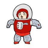 κωμικό διαστημικό άτομο κινούμενων σχεδίων Στοκ Εικόνα