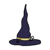 κωμικό καπέλο μαγισσών κινούμενων σχεδίων απόκοσμο Στοκ Εικόνα