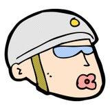 κωμικό κεφάλι αστυνομικών κινούμενων σχεδίων Στοκ εικόνες με δικαίωμα ελεύθερης χρήσης
