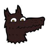 κωμικό κεφάλι λύκων κινούμενων σχεδίων Στοκ εικόνα με δικαίωμα ελεύθερης χρήσης