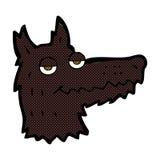 κωμικό κεφάλι λύκων κινούμενων σχεδίων Στοκ Εικόνες