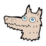 κωμικό κεφάλι λύκων κινούμενων σχεδίων Στοκ φωτογραφίες με δικαίωμα ελεύθερης χρήσης