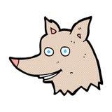 κωμικό κεφάλι λύκων κινούμενων σχεδίων Στοκ φωτογραφία με δικαίωμα ελεύθερης χρήσης