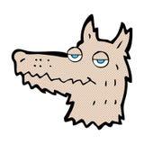κωμικό κεφάλι λύκων κινούμενων σχεδίων Στοκ Φωτογραφίες