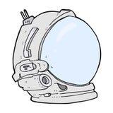 κωμικό κράνος αστροναυτών κινούμενων σχεδίων Στοκ φωτογραφία με δικαίωμα ελεύθερης χρήσης