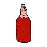 κωμικό μπουκάλι κρασιού κινούμενων σχεδίων σπιτικό Στοκ Εικόνα