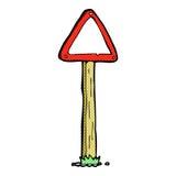 κωμικό οδικό σημάδι κινούμενων σχεδίων Στοκ Εικόνα