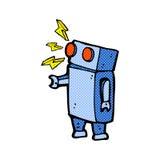 κωμικό ρομπότ κινούμενων σχεδίων Στοκ εικόνες με δικαίωμα ελεύθερης χρήσης