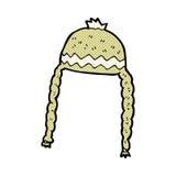 κωμικό δροσερό καπέλο κινούμενων σχεδίων Στοκ Φωτογραφίες