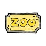 κωμικό σημάδι ζωολογικών κήπων κινούμενων σχεδίων Στοκ Εικόνες