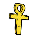 κωμικό σύμβολο κινούμενων σχεδίων ankh Στοκ Φωτογραφίες