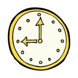 κωμικό σύμβολο ρολογιών κινούμενων σχεδίων Στοκ εικόνες με δικαίωμα ελεύθερης χρήσης
