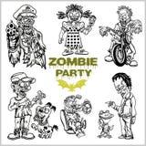 Κωμικό σύνολο Zombie - κινούμενα σχέδια zombie στοκ φωτογραφία με δικαίωμα ελεύθερης χρήσης